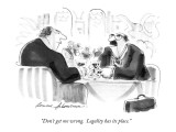 """Don't get me wrong.  Legality has its place."" - New Yorker Cartoon Premium Giclee Print by Bernard Schoenbaum"