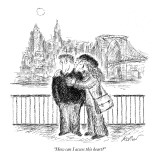 """How can I access this heart?"" - New Yorker Cartoon Premium Giclee Print by Edward Koren"