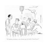"""""""Je leglette, messieurs, nous n'avons pas de losbif à l'amérlicaine."""" - New Yorker Cartoon Premium Giclee Print by  Alain"""