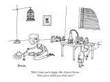 """""""Well, I hope you're happy, Mr. Science Genius.  Now you've killed your li…"""" - New Yorker Cartoon Premium Giclee Print by Jack Ziegler"""