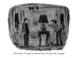 """You know, I've often wondered where the fuse box is myself."" - New Yorker Cartoon Premium Giclee Print by Robert Weber"