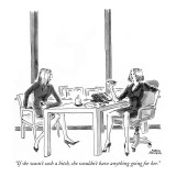 """If she wasn't such a bitch, she wouldn't have anything going for her."" - New Yorker Cartoon Premium Giclee Print by Marisa Acocella Marchetto"