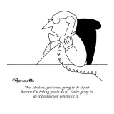 """No, Hoskins, you're not going to do it just because I'm telling you to do…"" - New Yorker Cartoon Premium Giclee Print by Charles Barsotti"