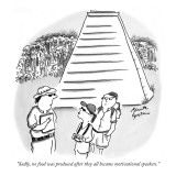 """Sadly, no food was produced after they all became motivational speakers."" - New Yorker Cartoon Premium Giclee Print by Benita Epstein"
