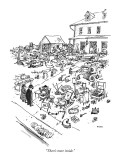 """There's more inside."" - New Yorker Cartoon Premium Giclee Print by George Booth"