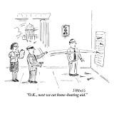 """O.K., next we cut home-heating aid."" - New Yorker Cartoon Premium Giclee Print by David Sipress"