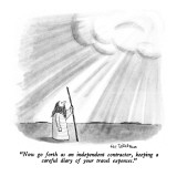 """""""Now go forth as an independent contractor, keeping a careful diary of you…"""" - New Yorker Cartoon Premium Giclee Print by Eric Teitelbaum"""