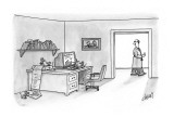 Man looks in on his computer which is being operated by a team of mice. - New Yorker Cartoon Premium Giclee Print by Tom Cheney