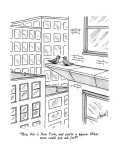 """Hey, this is New York, and you're a pigeon.  what more could you ask for?"" - New Yorker Cartoon Premium Giclee Print by Tom Cheney"