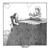 """Mom?"" - New Yorker Cartoon Premium Giclee Print by Harry Bliss"