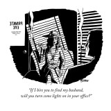 """If I hire you to find my husband, will you turn some lights on in your of…"" - New Yorker Cartoon Premium Giclee Print by Ward Sutton"
