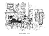 """He's philosophy-driven."" - New Yorker Cartoon Premium Giclee Print by Edward Koren"