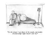 """""""In this dream I am flavor of the month, and double-chocolate-fudge ripple…"""" - New Yorker Cartoon Premium Giclee Print by Victoria Roberts"""