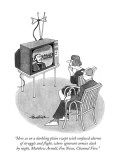 """Here as on a darkling plain swept with confused alarms of struggle and fl…"" - New Yorker Cartoon Premium Giclee Print by J.B. Handelsman"