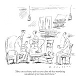 """""""How can we know who we are when the best marketing consultants of our tim…"""" - New Yorker Cartoon Premium Giclee Print by Barbara Smaller"""