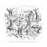 """""""Just think of the fun you could have whipping this into shape!"""" - New Yorker Cartoon Premium Giclee Print by Kemp Starrett"""