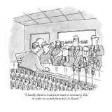 """I hardly think a transition team is necessary, Ed, in order to switch fro…"" - New Yorker Cartoon Premium Giclee Print by Jack Ziegler"