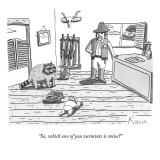 """So, which one of you varmints is mine?"" - New Yorker Cartoon Premium Giclee Print by Zachary Kanin"