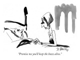 """Promise me you'll keep the buzz alive."" - New Yorker Cartoon Premium Giclee Print by Donald Reilly"