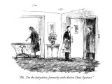 """Hi.  I'm the babysitter, formerly with Action Data Systems."" - New Yorker Cartoon Premium Giclee Print by Robert Weber"
