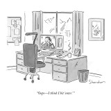&quot;OopsI think I hit &#39;enter.&#39; &quot; - New Yorker Cartoon Premium Giclee Print by Danny Shanahan
