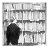 Used Books - New Yorker Cartoon Premium Giclee Print by Matthew Diffee