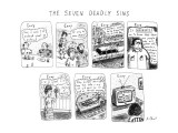 The Seven Deadly Sins - New Yorker Cartoon Premium Giclee Print by Roz Chast