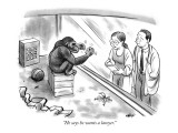 """He says he wants a lawyer."" - New Yorker Cartoon Premium Giclee Print by Tom Chalkley"