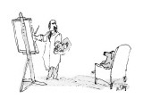 Man painting dog in armchair. - New Yorker Cartoon Premium Giclee Print by William Steig