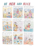 Of Men and Mice - New Yorker Cartoon Premium Giclee Print by Roz Chast