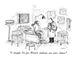 """I thought I'd give Western medicine one more chance."" - New Yorker Cartoon Premium Giclee Print by Edward Koren"