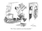 """The 'Times' called his novel 'downloadable.'"" - New Yorker Cartoon Premium Giclee Print by Mike Twohy"