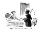 """Have a seat.  Taxes is in with him now."" - New Yorker Cartoon Premium Giclee Print by Ed Fisher"