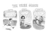 'The Three Graces' - New Yorker Cartoon Premium Giclee Print by Roz Chast