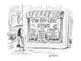 The Off-line Store - New Yorker Cartoon Premium Giclee Print by David Sipress