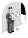Bum holds sign that reads: 'An error of type 3 has occurred unexpectedly.' - New Yorker Cartoon Premium Giclee Print by J.C. Duffy