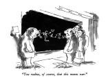 """""""You realize, of course, that this means war."""" - New Yorker Cartoon Premium Giclee Print by Sidney Harris"""