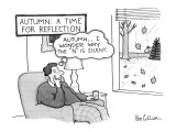Autumn: A Time for Reflection - New Yorker Cartoon Premium Giclee Print by Leo Cullum