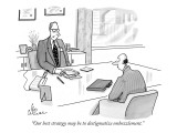 """Our best strategy may be to destigmatize embezzlement."" - New Yorker Cartoon Premium Giclee Print by Leo Cullum"