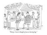 """Funny. I never thought of you as having legs."" - New Yorker Cartoon Premium Giclee Print by Mick Stevens"