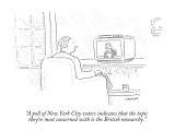 """""""A poll of New York City voters indicates that the topic they're most conc…"""" - New Yorker Cartoon Premium Giclee Print by Robert Mankoff"""