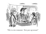 """This is a nice restaurant.  Turn your cap around."" - New Yorker Cartoon Premium Giclee Print by Warren Miller"