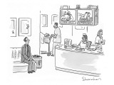 Monitors show images of the newly born and the newly deceased, in hospital… - New Yorker Cartoon Premium Giclee Print by Danny Shanahan