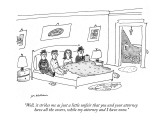 """""""Well, it strikes me as just a little unfair that you and your attorney ha…"""" - New Yorker Cartoon Premium Giclee Print by Michael Maslin"""