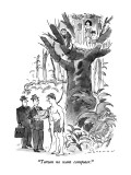 &quot;Tarzan no want computer.&quot; - New Yorker Cartoon Premium Giclee Print by Bill Woodman
