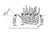 """The yeas have it.  Censure, and we'll give you a running start."" - New Yorker Cartoon Premium Giclee Print by Tom Cheney"