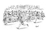 Cell Phone Marathon - New Yorker Cartoon Premium Giclee Print by Tom Cheney