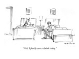 &quot;Well, I finally saw a shrink today.&quot; - New Yorker Cartoon Premium Giclee Print by Michael Crawford