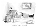 """Sometimes I don't read my mail."" - New Yorker Cartoon Premium Giclee Print by Victoria Roberts"