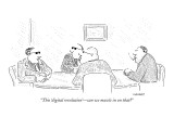 """This 'digital revolution'—can we muscle in on that?"" - New Yorker Cartoon Premium Giclee Print by Robert Mankoff"